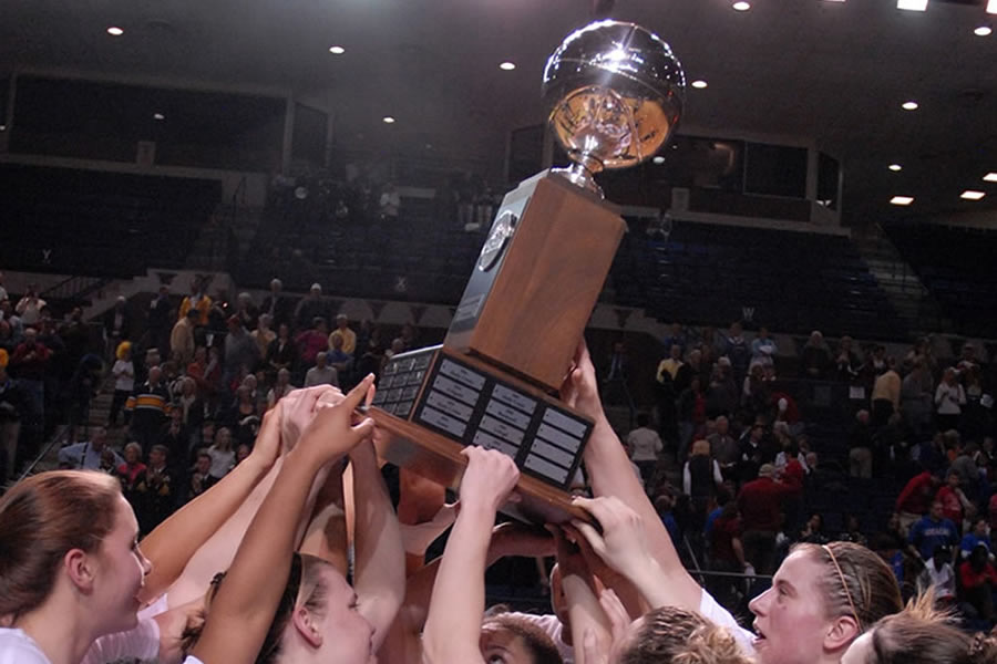 Basketball Team Rising Trophy Image